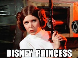 In her defense, she's probably the only Disney Princess with a blaster...