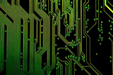 details of the electronic circuit tracks on a printed circuit board, once of 20 images on our